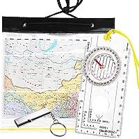 Kompas Oriënteering, Clear Navigatie Kompas voor Explorer Expeditie Camping, Wandelen, Survival Bergbeklimmen met…