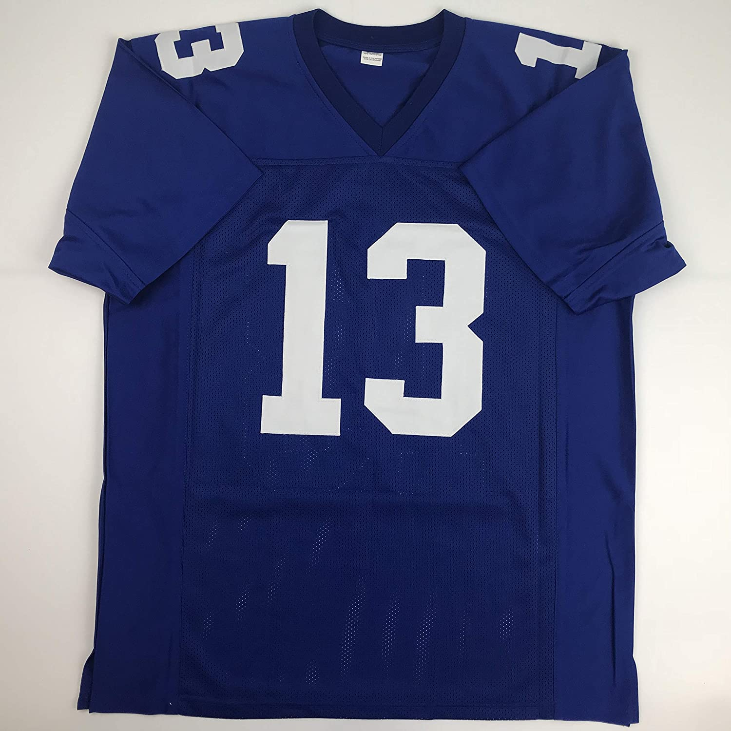 0a946620f Amazon.com: Unsigned Odell Beckham Jr. New York Blue Custom Stitched  Football Jersey Size XL New No Brands/Logos: Sports Collectibles