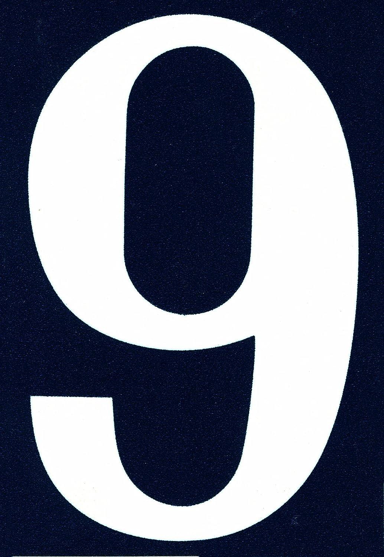 Symbol NA09 Num/éro rue pvc adh/ésif 110 x 40 mm Chiffre 9
