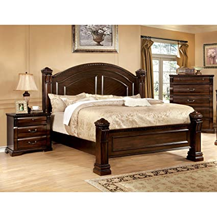 Amazon.com: Furniture of America Tasine Cherry 3-Piece ...