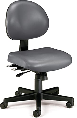 OFM Core Collection 24 Hour Mid Back Ergonomic Armless Task Chair