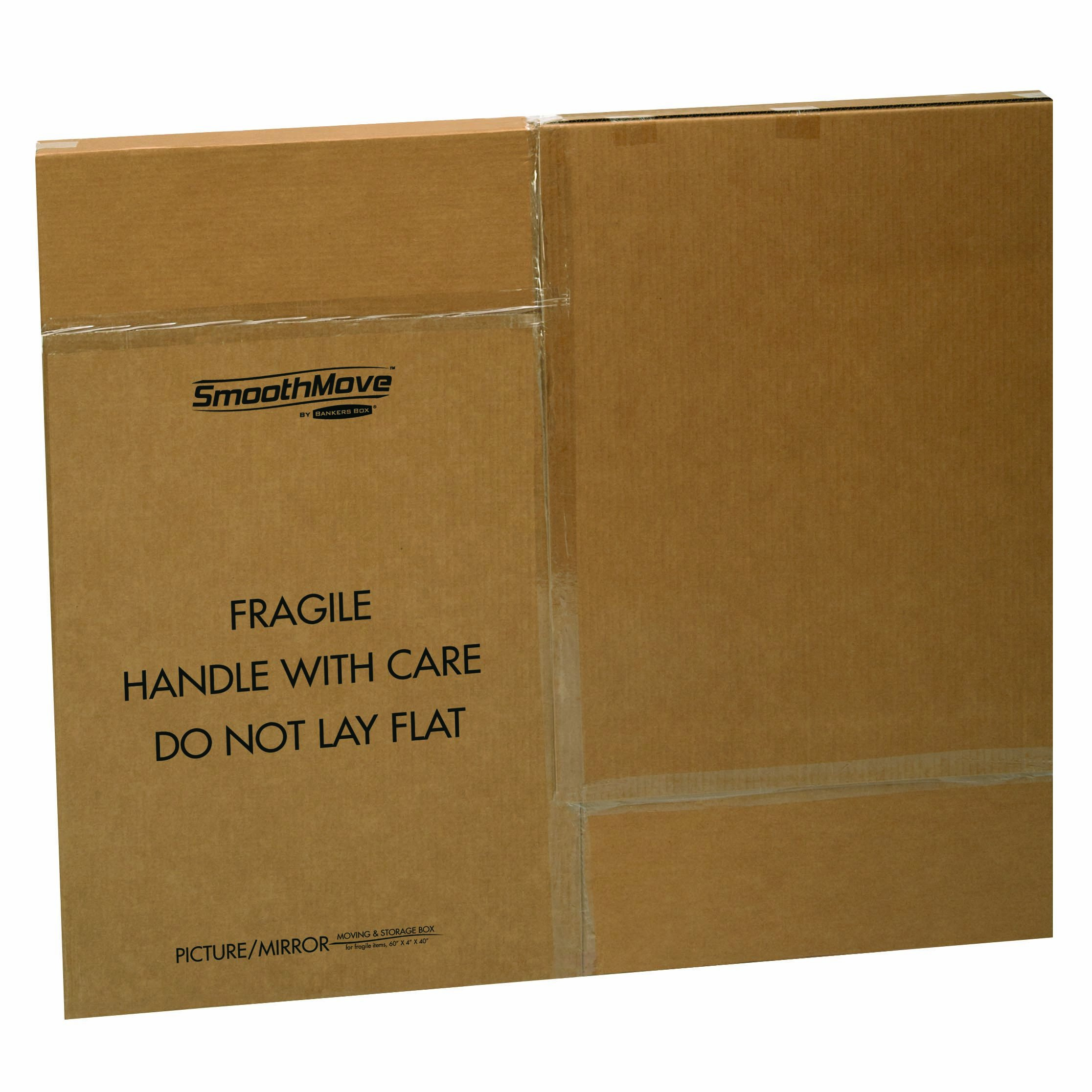 Bankers Box SmoothMove TV/Picture/Mirror Moving Box, Adjustable, 40 x 60 x 4 Inches, 3 Pack (7711401)