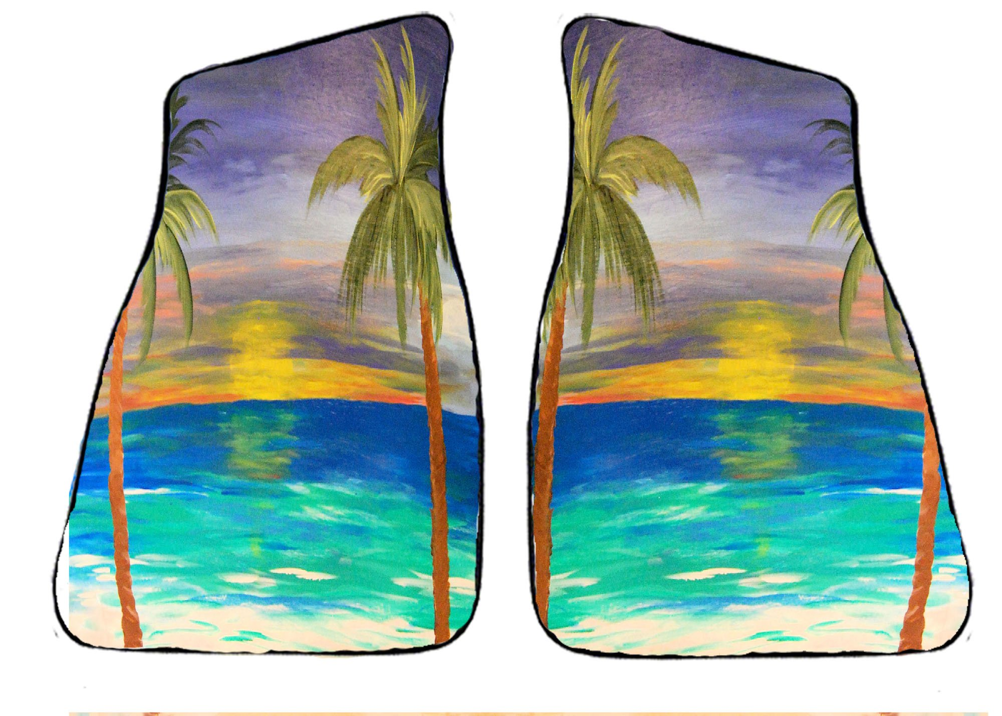 Tropical Sunset Beach Auto Car Floor Mats