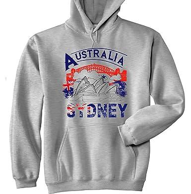 Cotone Teesquare1st Di Cappuccio Felpa Sydney Australia Grigia Con rOC6nr