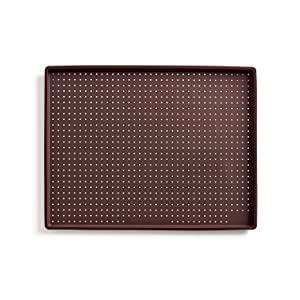 Lekue Micro Perforated Baking Rectangular Pizza Mat, Brown