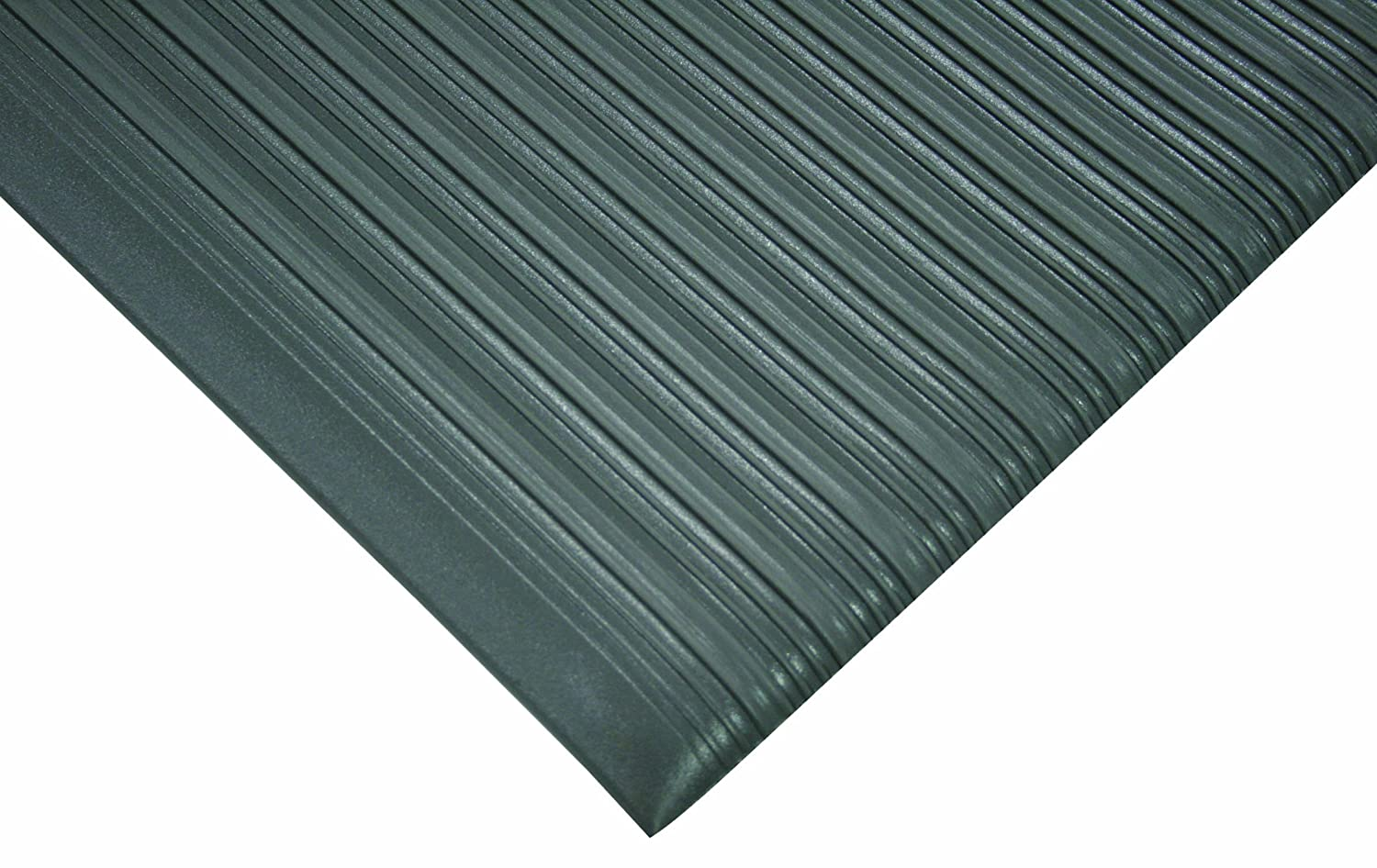 for Dry and Damp Areas 2 Width x 14 Length x 0.62 Thickness Ergomat Polyurethane Anti-Fatigue and Anti-Static Mat Gray