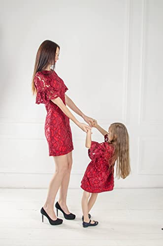 Amazon.com  Mommy and Me lace dresses f0a370f95860