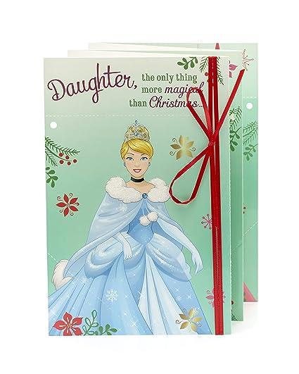 Cinderella Christmas.Amazon Com Disney Princess Cinderella Christmas Card