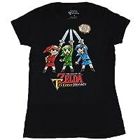 Legend of Zelda Girls Juniors T-Shirt - Tri-Force Heroes Triple Link Cheer