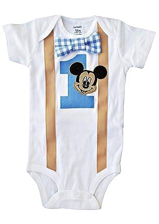 amazon com baby boys 1st birthday outfit mickey mouse bodysuitamazon com baby boys 1st birthday outfit mickey mouse bodysuit clothing
