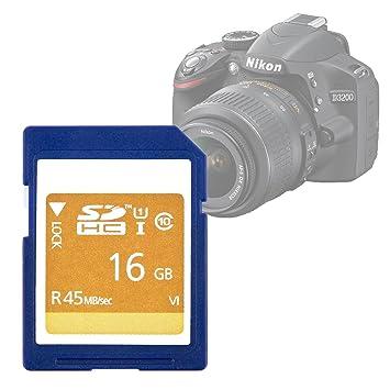 DURAGADGET Tarjeta de Memoria SD HC UHS-I 16 GB para Cámara Nikon ...