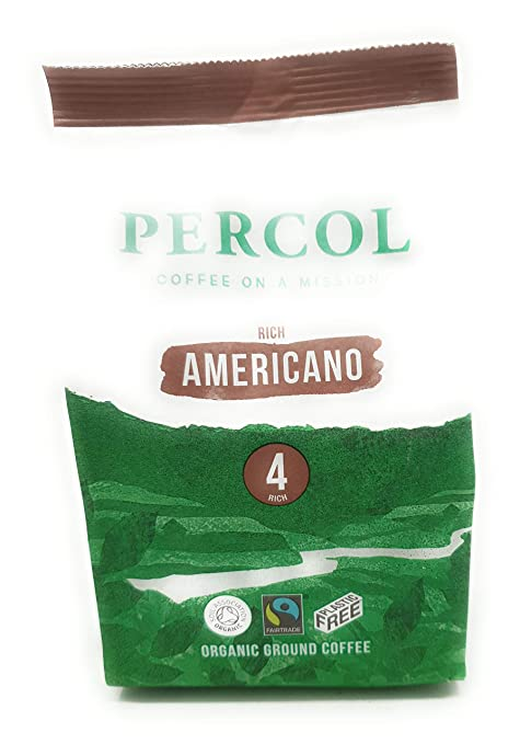 Amazon.com : Percol Fairtrade & Organic Americano Ground Coffee 200g - Pack of 2 : Grocery & Gourmet Food