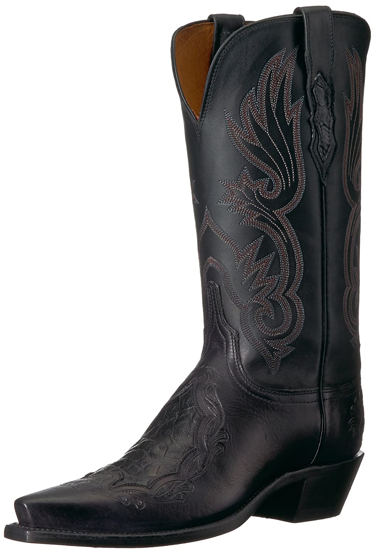 Lucchese Bootmaker Women's Beatrice Western Boot B075XZWCHT 9 B(M) US|Black