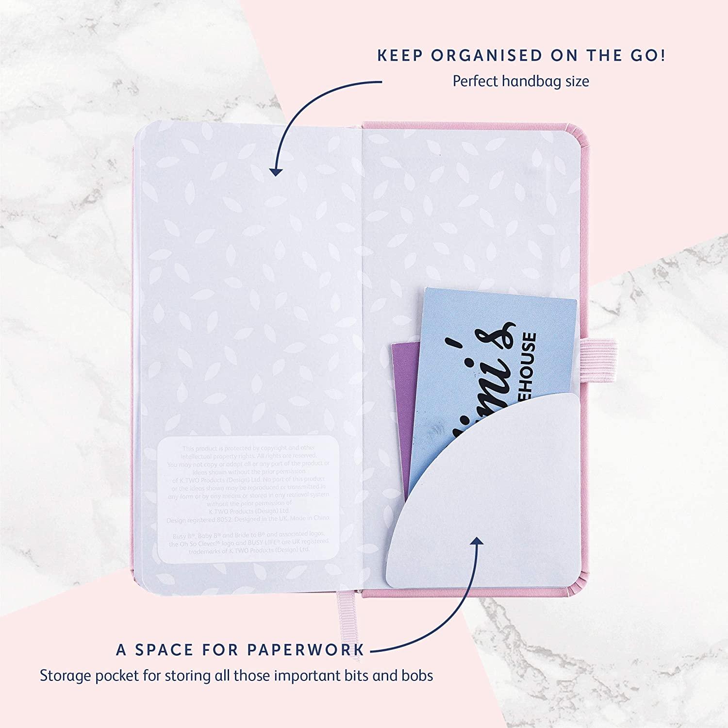 Amazon.com : Busy B 2019 Slim Diary with Tear-Off Notes ...
