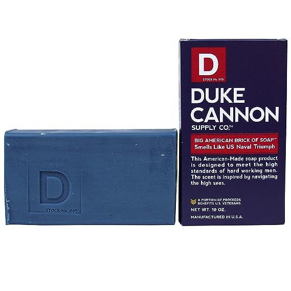 Duke Cannon Men's Bar Soap - 10oz  Big American Brick Of Soap By Duke  Cannon - Naval Triumph