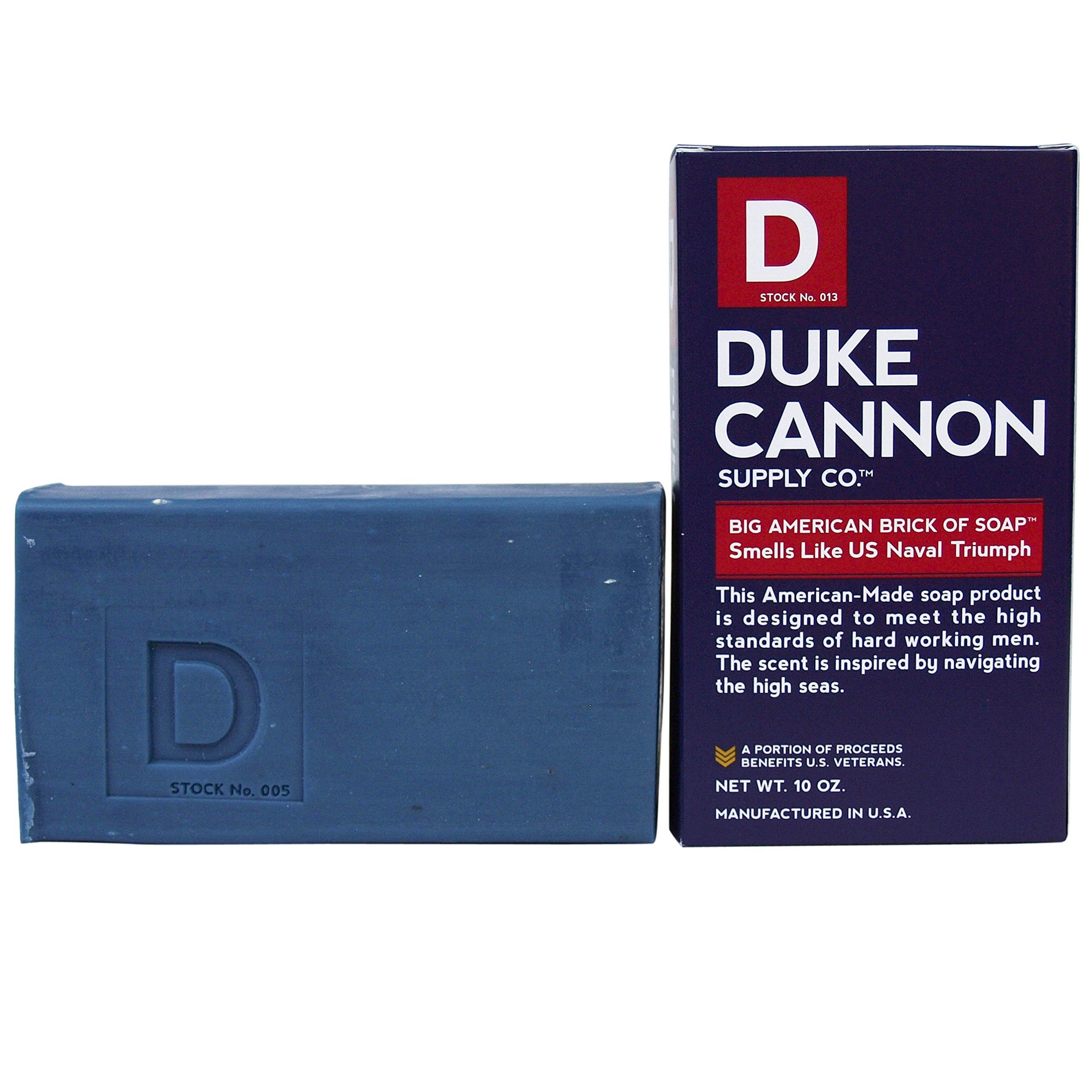 Duke Cannon Men's Bar Soap - 10oz. Big American Brick Of Soap By Duke Cannon - Naval Triumph
