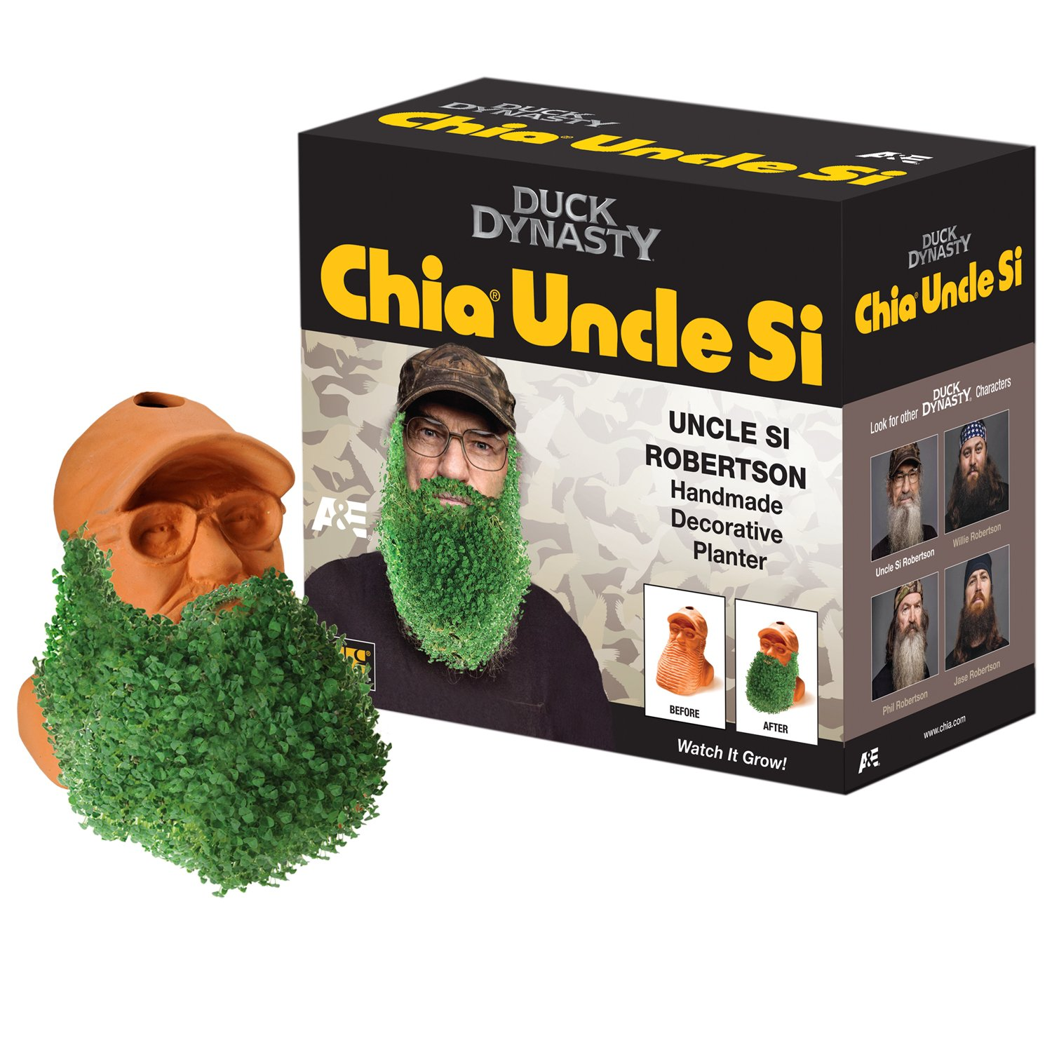 Amazon.com : Chia Uncle Si Duck Dynasty Planter : Home And Garden ...