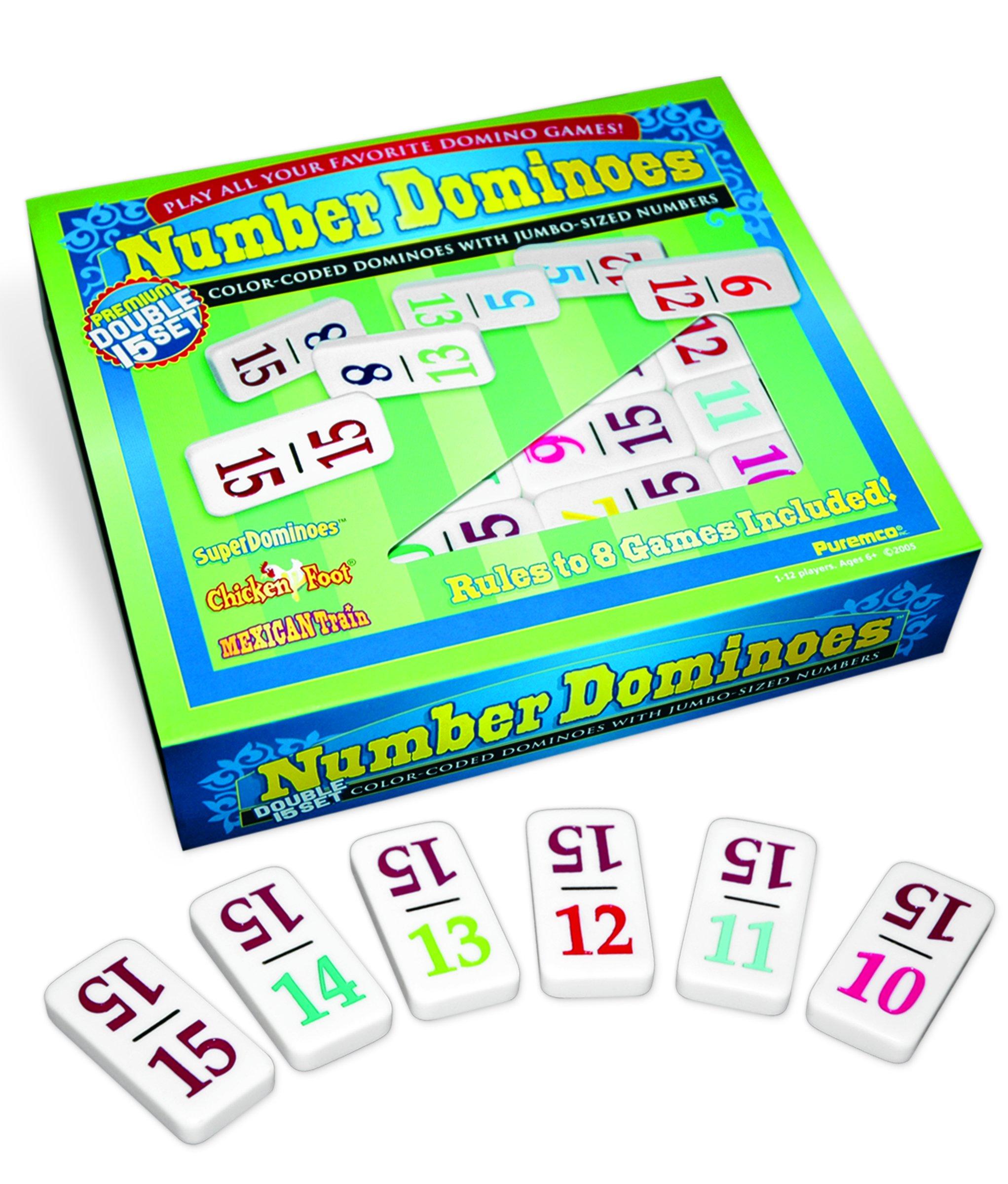 Number Dominoes Premium Double 15 Set