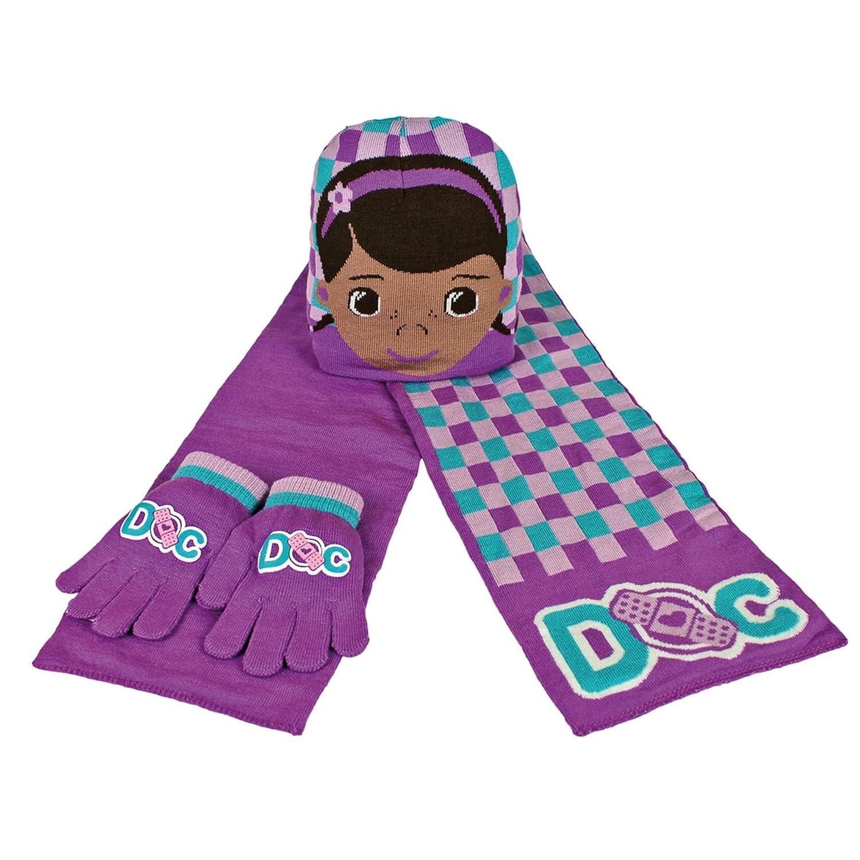 Disney Doc McStuffins Child/Girls Winter 3 Piece Scarf, Hat and Gloves Set Cerda 2200000348