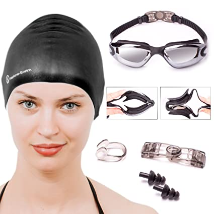 8d2646d7fd9 Amazon.com   Neptune Swim Set - 5 Piece Goggles To Swim