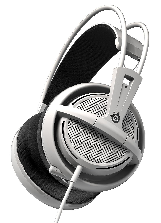 SteelSeries Siberia 200 - Auriculares para Juego, micrófono retráctil, gestión de Software, (PC/Mac/Playstation/Móvil), Blanco
