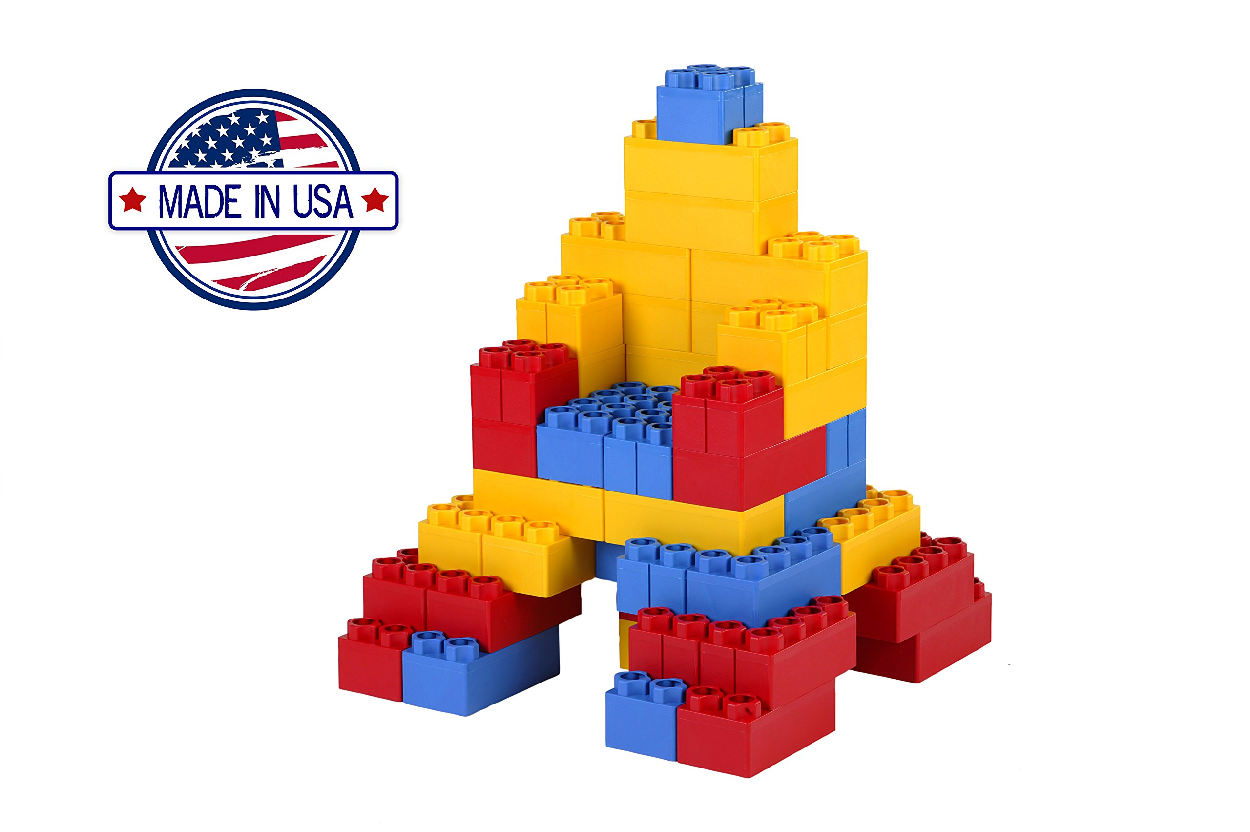 96pc Jumbo Blocks - Standard Set (Made in the USA) by Kids Adventure (Image #3)
