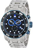 Invicta Men's 80042 Pro Diver Chronograph Black Dial Stainless Steel Watch