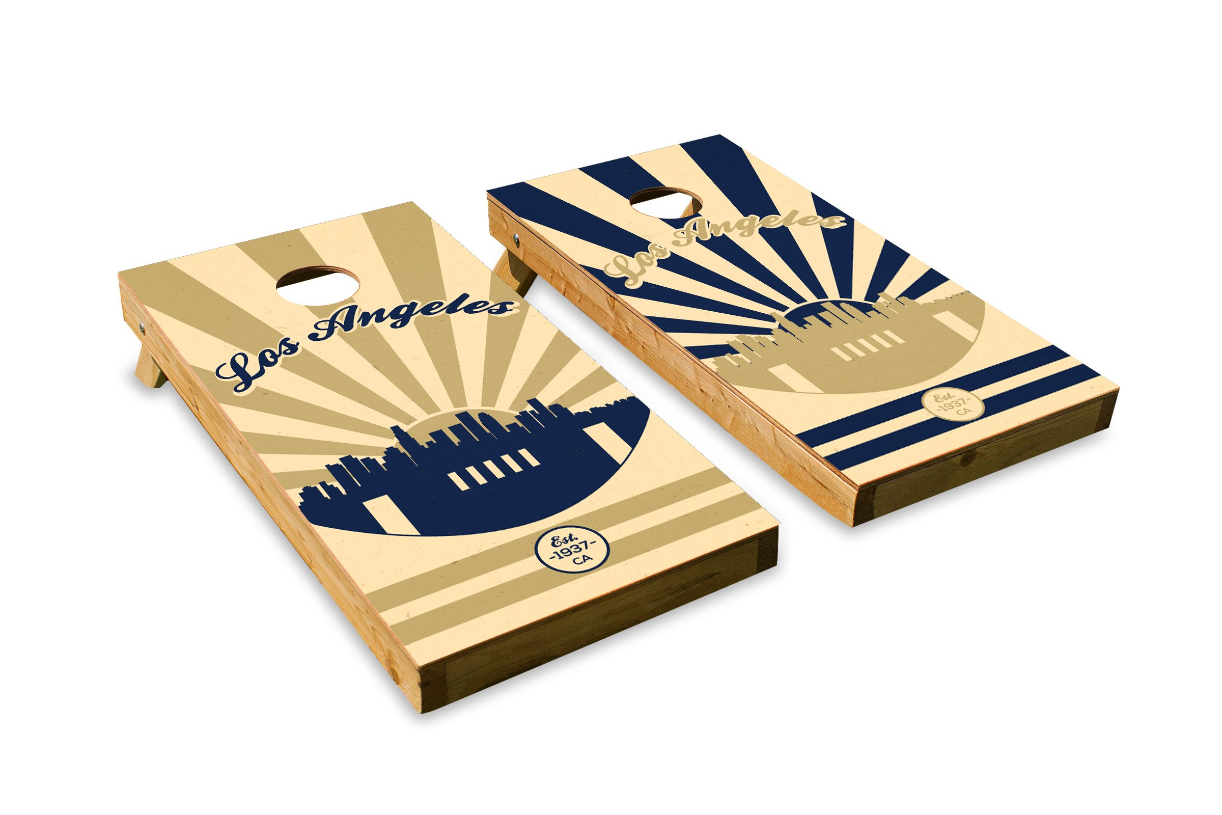Los Angeles Football - Cornhole Crew - ACA Regulation Size Cornhole Board Set