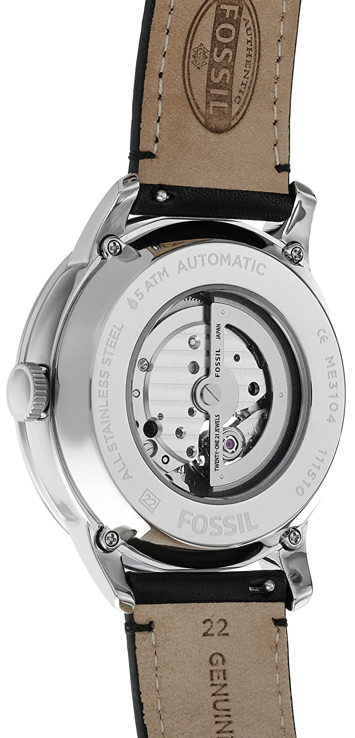 Fossil Men s ME3104 Automatic Self-Wind Watch with Black Strap