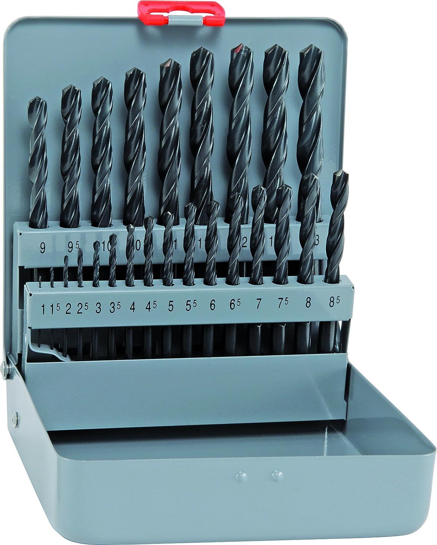 800321100 Alpen /ø 1-13 x 0,5 mm corta Punta elicoidale HSS Sprint in valigetta di metallo 25 pz DIN 338 RN