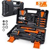 TACKLIFE 57-Piece Orange Home Tool Kit -Basic Household Repair Tool Kit for Home, Office, Apartment with Sturdy Tool Box Stor