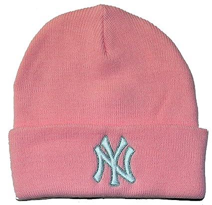 Amazon.com   New York Yankees MLB Baseball Cap Womens Beanie Rose Winter  Knit Hat   Sports   Outdoors e08b6d96b