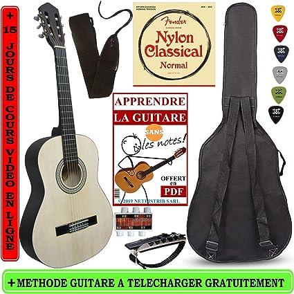 Pack Guitarra clásica 3/4 (8 - 13 años) para niños con 6 ...
