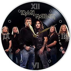 Leooolukkin Iron Maiden Vinyl Clock 12