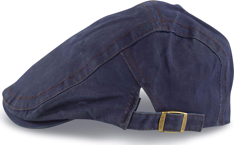 fashionchimp /® Flat-Cap Schieberm/ütze im Vintage Used-Look Golferm/ütze