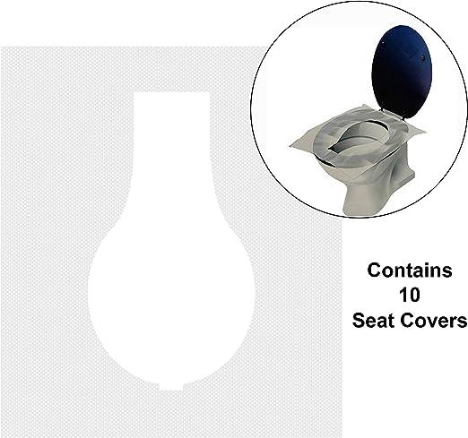 RAMPRO Fundas de asiento de inodoro de papel higiénico ...