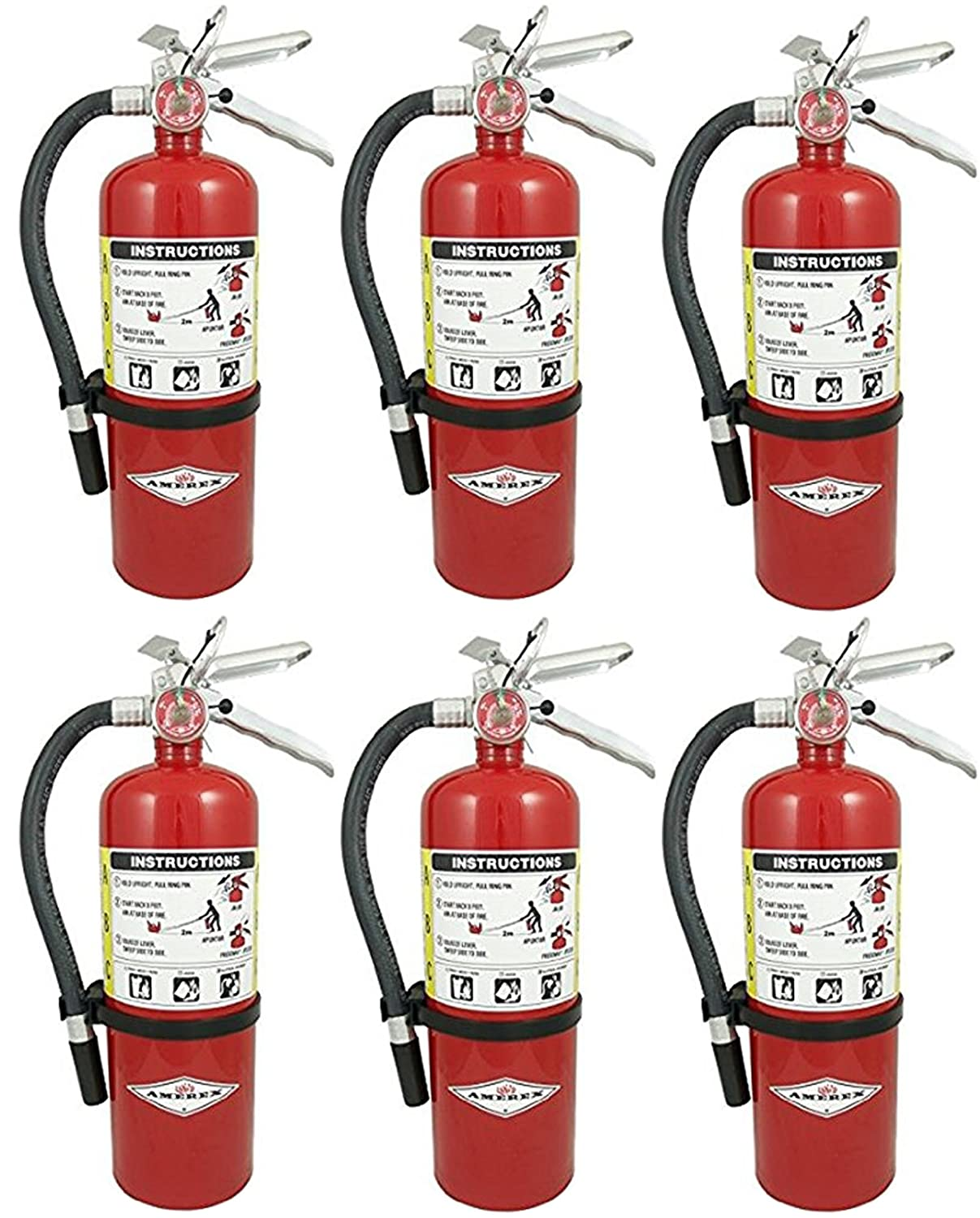 Amerex B500, 5lb ABC Dry Chemical Class A B C Fire Extinguisher Amerex Corporation