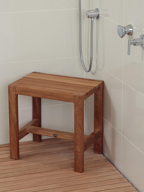 Amazon.com: Arb Teak & Specialties Fiji Teak Shower Bench, 23.5 Inch ...