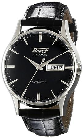 Amazon.com  Tissot Men s T0194301605101 Visodate Black Dial Watch ... 58efffa6bd