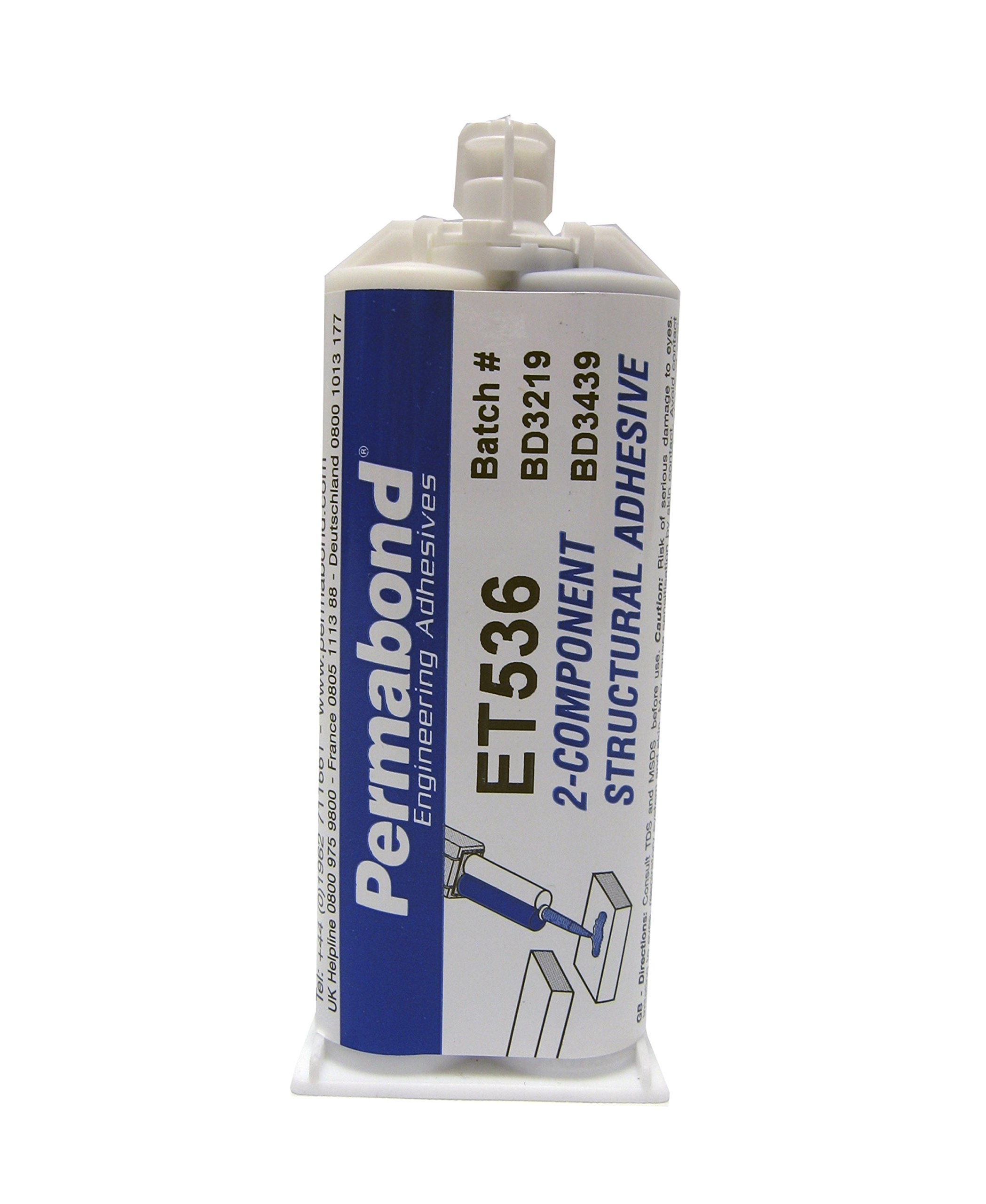 Permabond ET536/50 Structural Adhesive, Two-Component, 50 mL