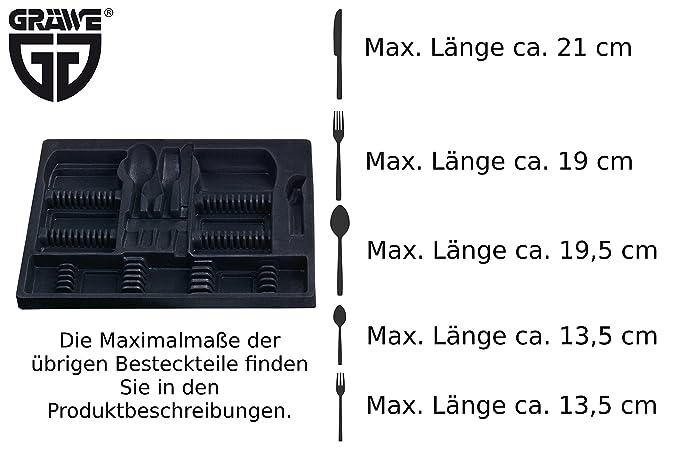 Gräwe - Maletín para cubertería (vacío, coninsertos para hasta 100 cubiertos.: Amazon.es: Hogar