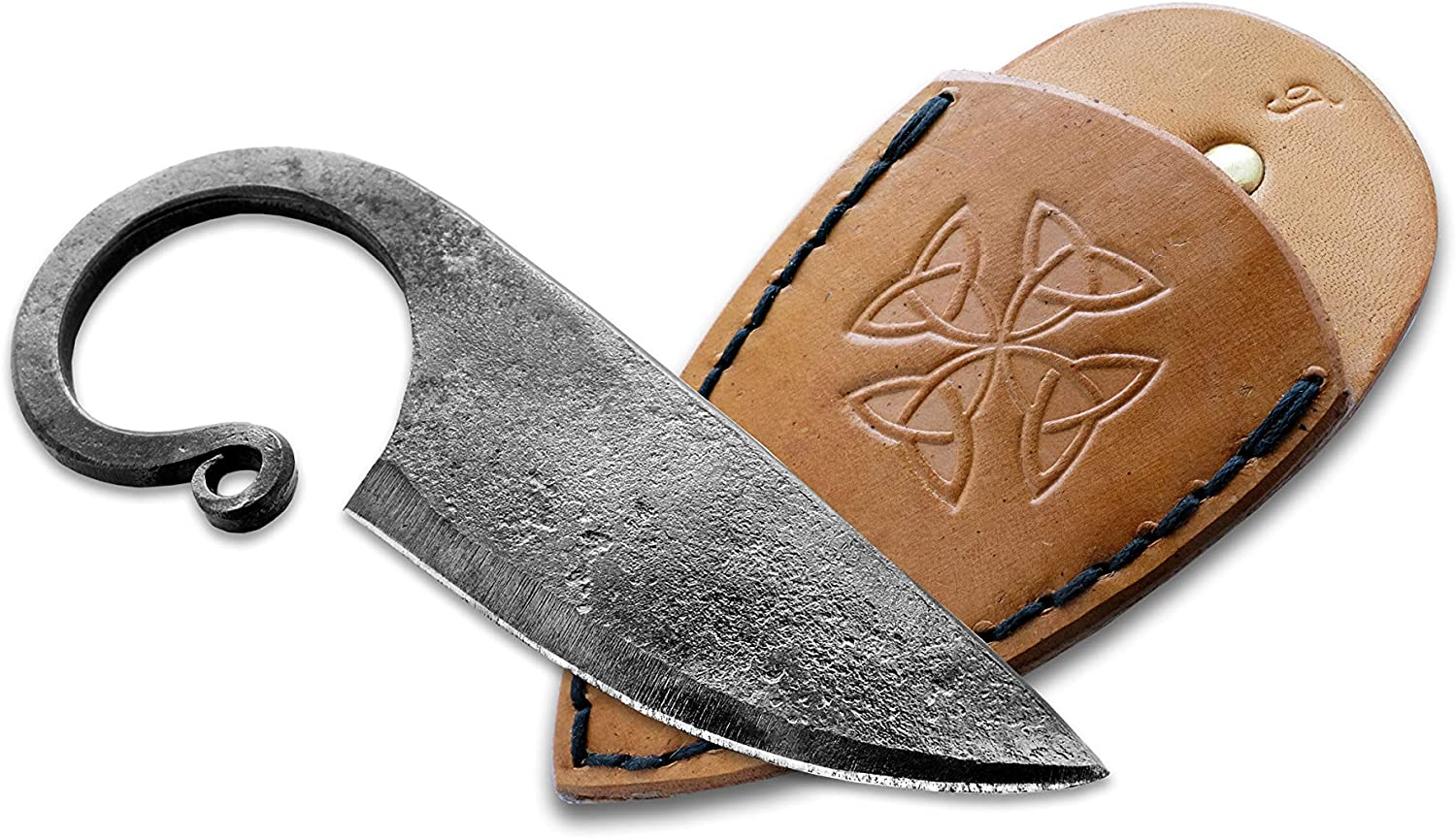 Toferner Original Gift, Beautiful Product – Celtic Pocket Knife On a Belt, Hand Forged Knife.Hardened Blade, Vintage, Art Collection, Antiquity, Great.Beautiful Product.