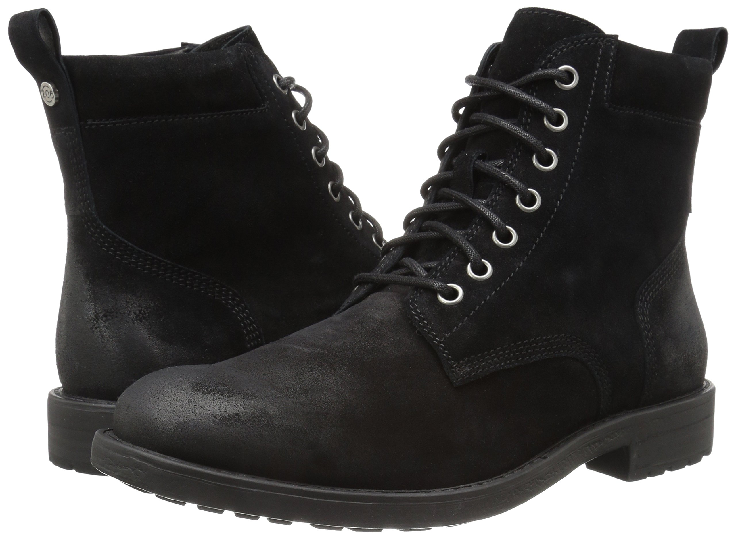 206 Collective Men's Denny Lace-up Motorcycle Boot, Black Burnish, 9.5 D US by 206 Collective (Image #6)