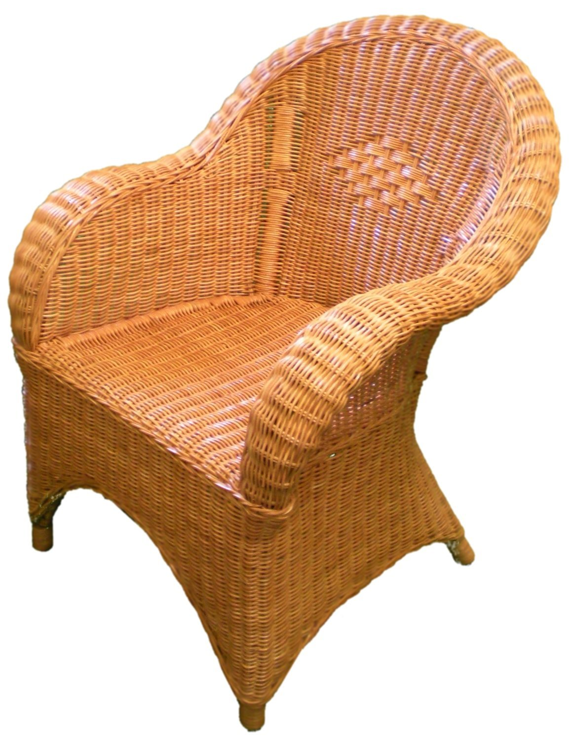 Candy Brown Wicker Chair