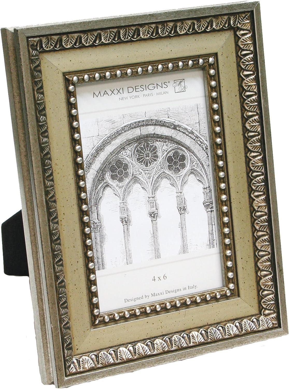 Silver Ornate Pattern Maxxi Designs 5 X 7 Ravenna Frame