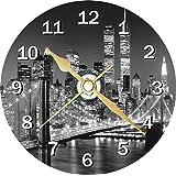 New York Cityscape Novelty Cd Clock + Free Desktop Stand