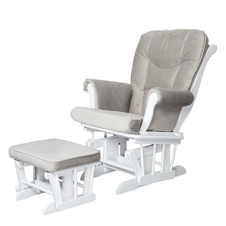 Athena AFG Sleigh Glider Chair, White GL7126W