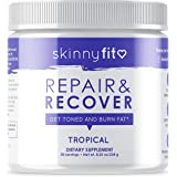 SkinnyFit Repair & Recover 30 Servings, BCAA Powder, Branched Chain Amino Acids, Pre Intra Post Workout Supplement for Endurance, Muscle Recovery Boost Growth, Tropical Flavor