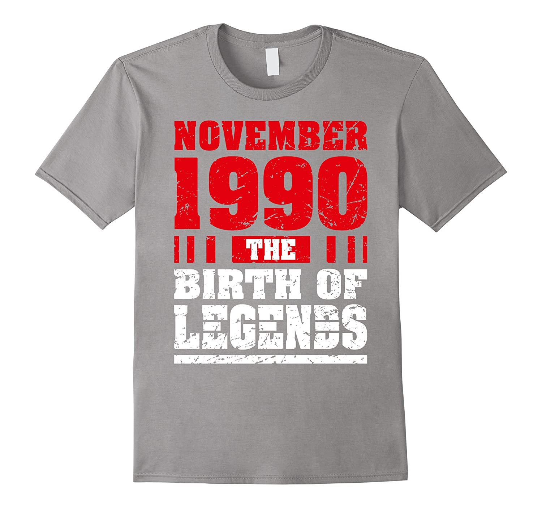 27 Years Old 27th Birthday Gift Born 1990 November Tee Shirt-FL