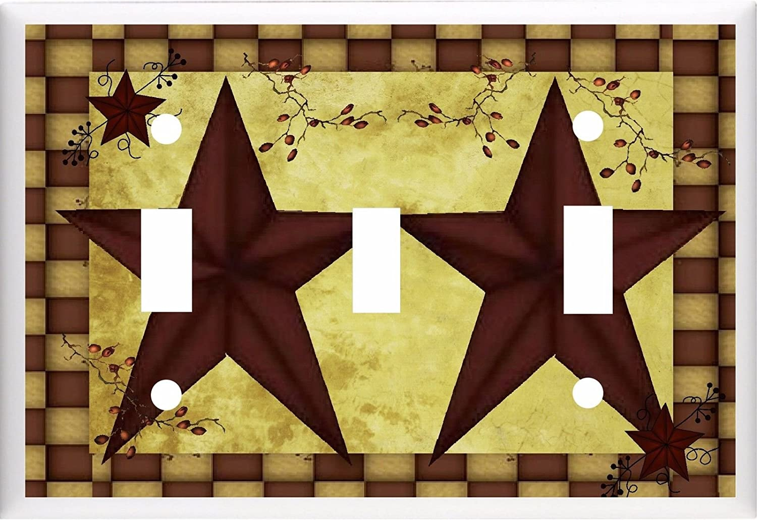 Amazon.com: BARN STAR PRIMITIVE COUNTRY INSPIRED LIGHT SWITCH COVER ...